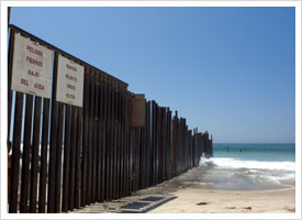 Border Fence on Coast